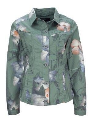 Feminim-sportliche Jeansjacke mit Blumenprint 99,99 €